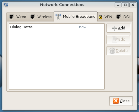 Network Configuration Applet